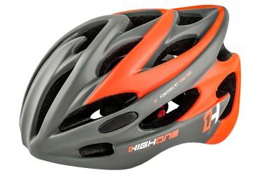 d2120ac64 Capacete de ciclista laranja com LED Volcano 19 High One ...