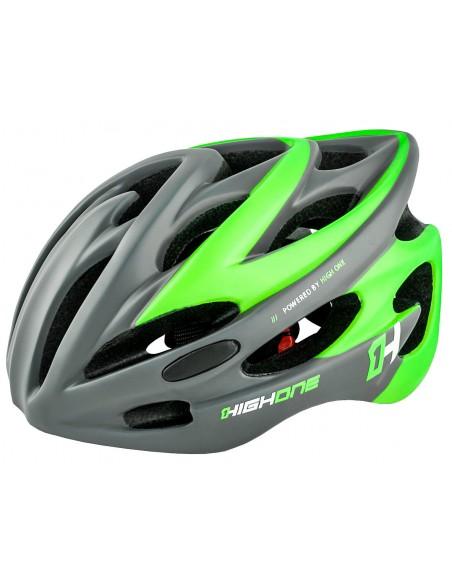 Capacete de ciclista verde com LED Volcano 19 High One