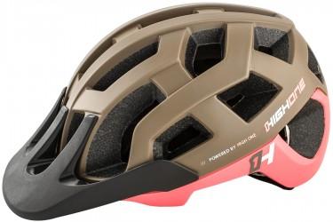 Capacete de ciclista MTB/Speed Marrom / Rosa Cervix High One