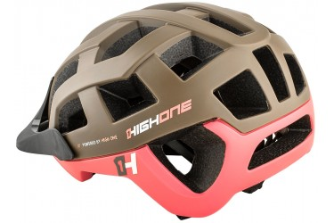 16b772b9f ... Capacete de ciclista MTB Speed Marrom   Rosa Cervix High One 2