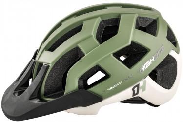 Capacete de ciclista MTB/Speed Cervix Cinza / Verde militar High One