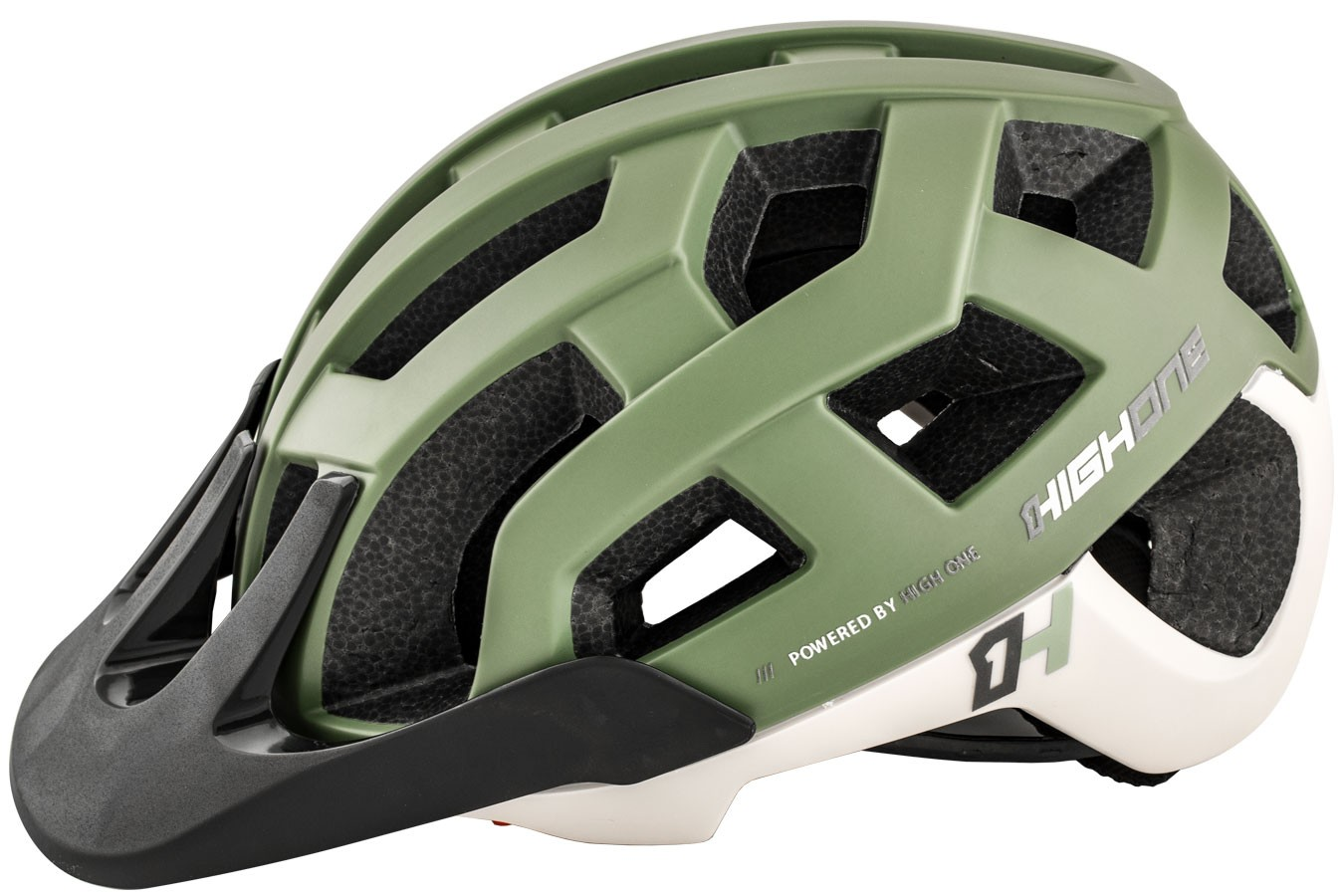 Capacete de ciclista MTB/Speed Cervix Cinza / Verde militar High One