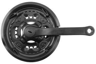 Pedivela com Engrenagem Tripla 24/34/42 Com Protetor - Longheng