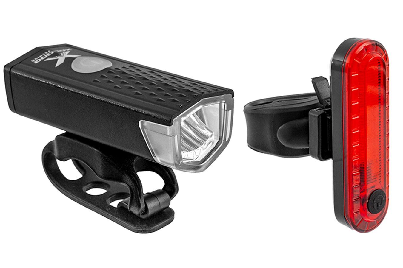 Kit farol recarregável USB 120/10 lúmens - X-plore