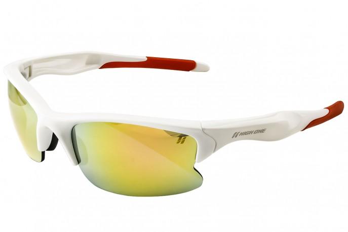 Óculos Ciclista com 3 Lentes Branco - High One