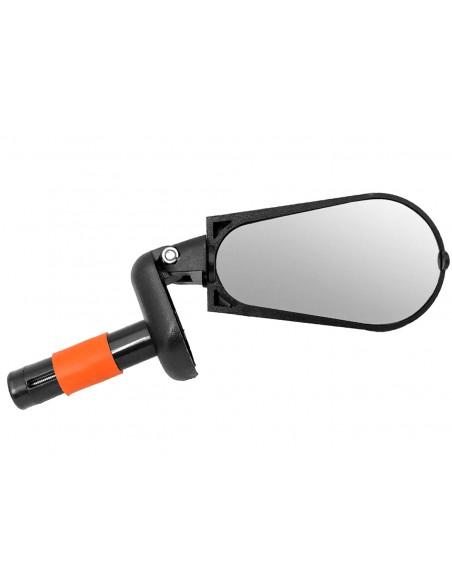 Espelho para bike Oval 88 x 50 mm Preto Elleven