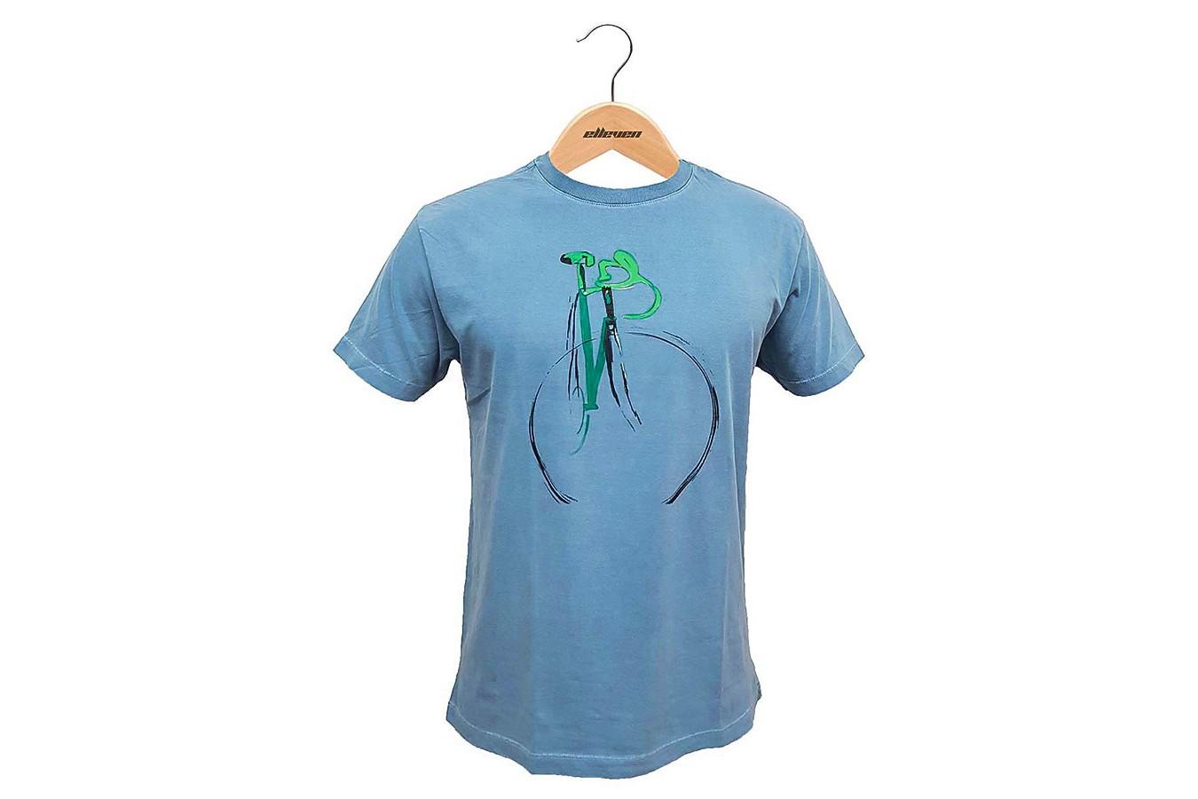 Camiseta Casual Pintura Azul Celeste - Elleven