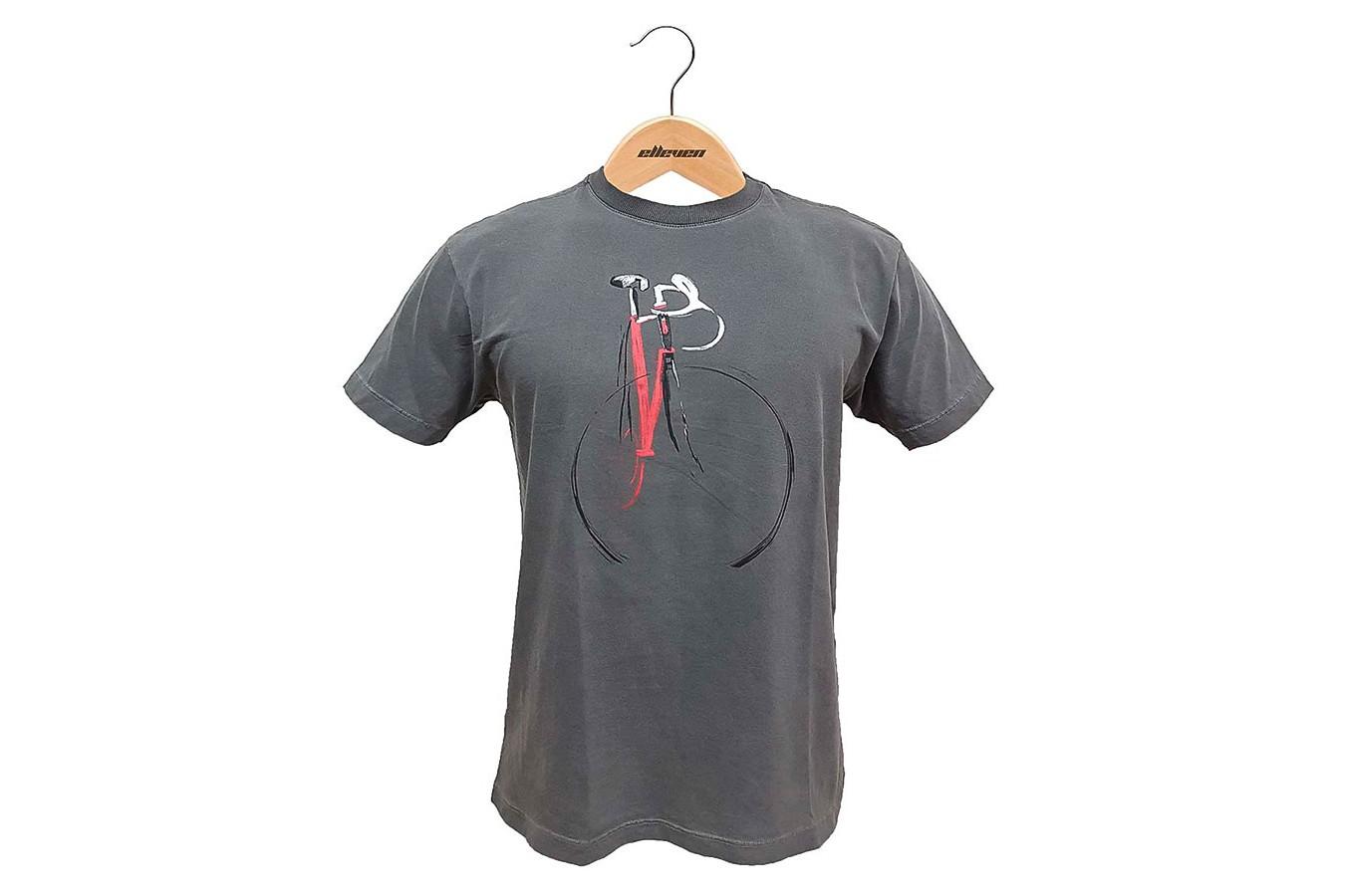 Camiseta Casual Pintura Cinza Escuro - Elleven
