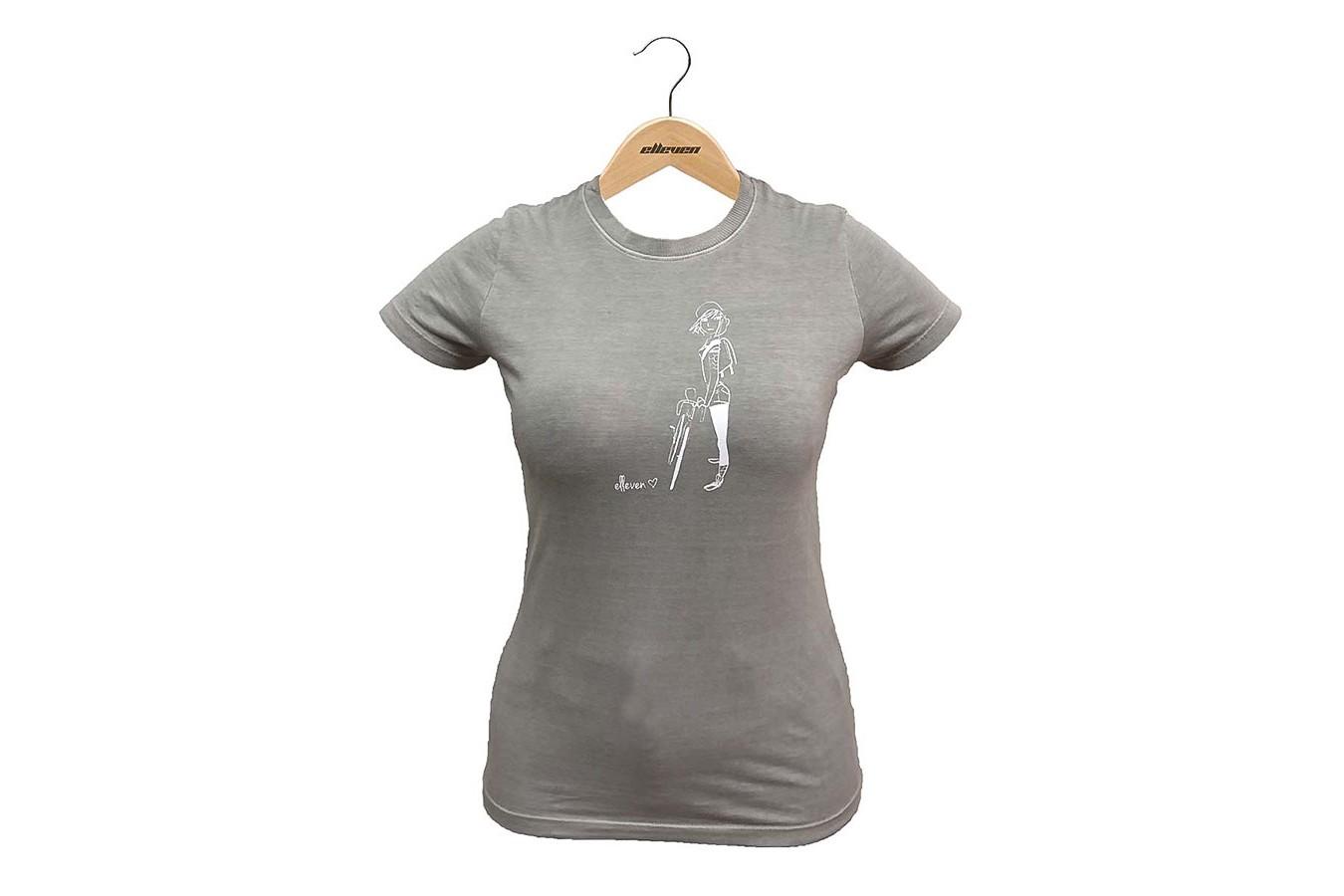"Camiseta Casual Feminina ""Girl"" Cinza Claro - Elleven"