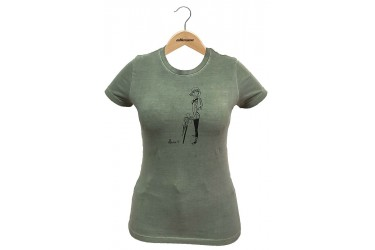"Camiseta Casual Feminina ""Girl"" Verde - Elleven"