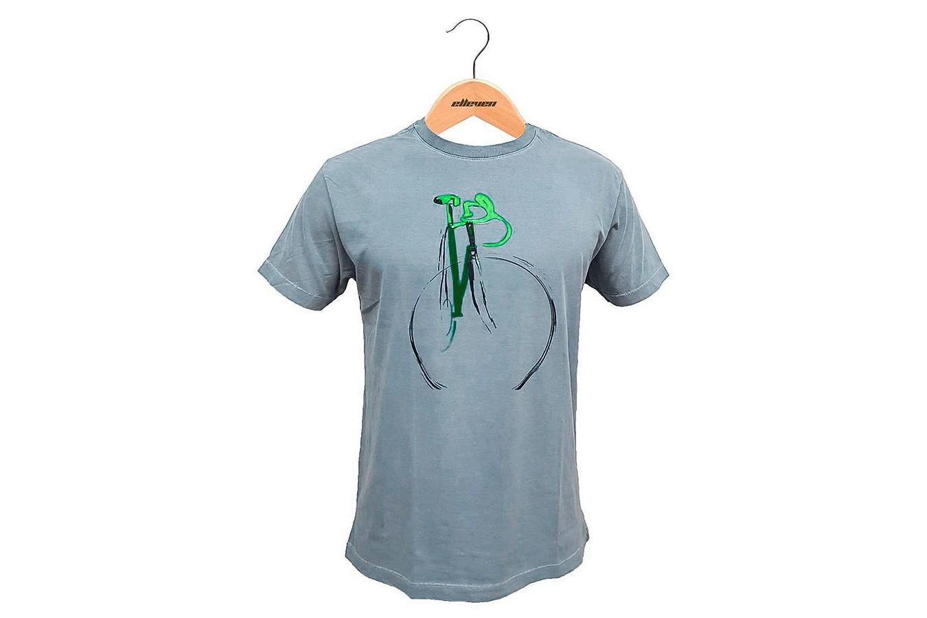 Camiseta Casual Pintura Azul Areado - Elleven