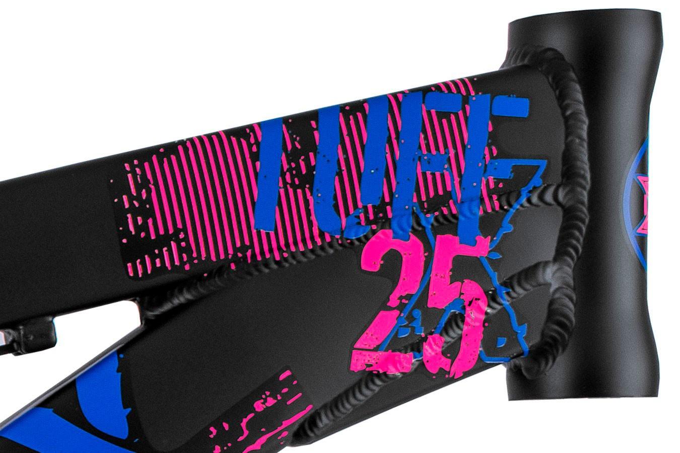 """Quadro 26"""" Dirt Jump Tuff X-25 VikingX preto e rosa"""