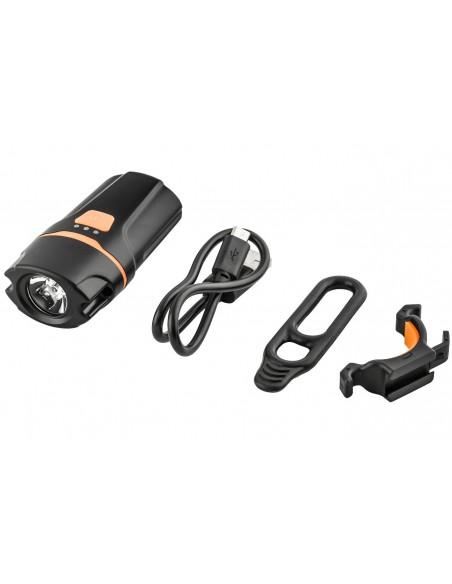 Farol recarregável USB 300 lúmens 1 LED