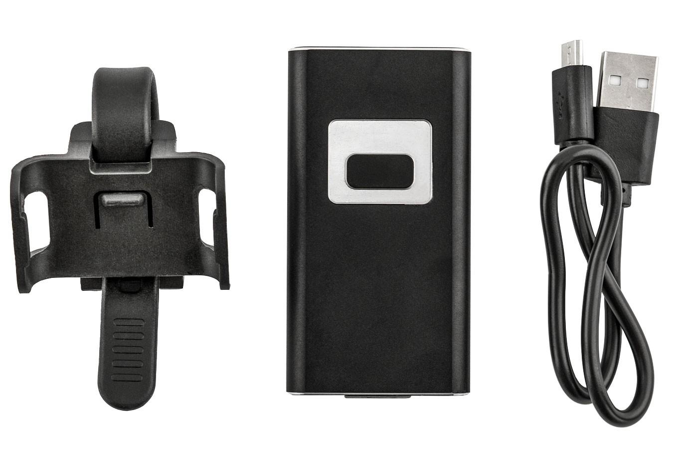 Farol recarregável USB 500 lúmens 2 LEDs