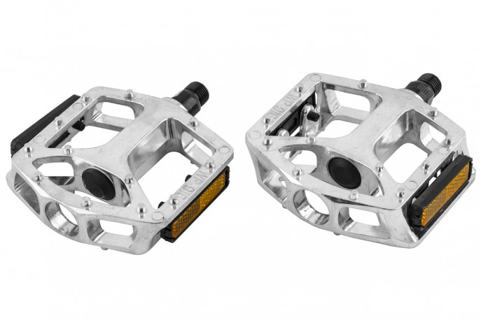 Pedal Inglês Tipo Plataforma em Alumínio Natural WP-916 - Neco