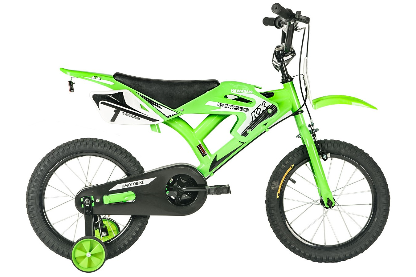 Bicicleta aro 16 KX Verde/Preta moto bike - Kawasaki