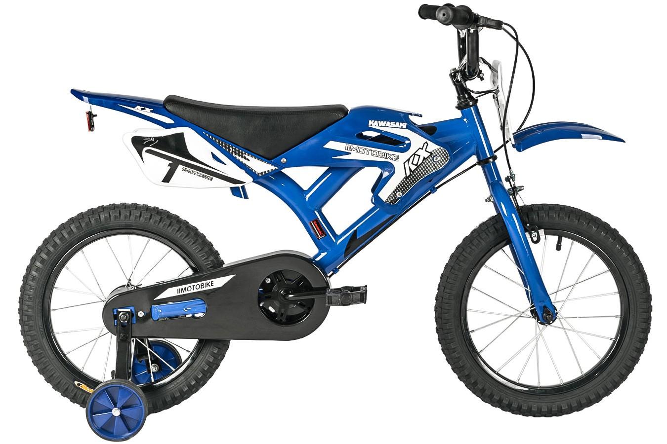 Bicicleta aro 16 KX Azul/Preta moto bike - Kawasaki