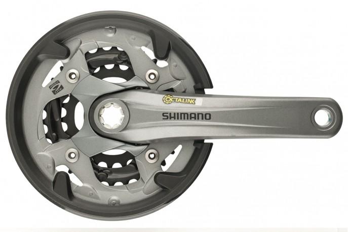 Pedivela Tripla 22/30/40 FC-M4000 Octalink com protetor - Shimano