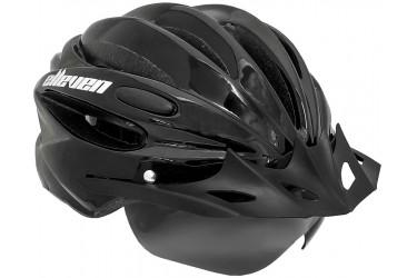 Capacete Ciclista Preto com Óculos Magnético - Elleven