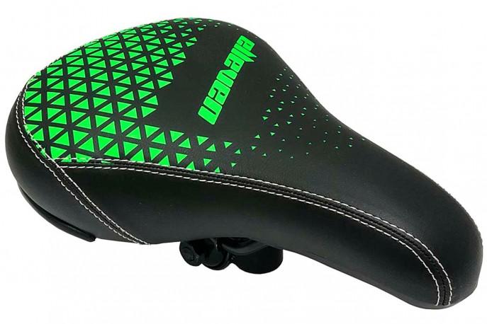 Selim Bmx Freestyle Preto com Verde - Elleven