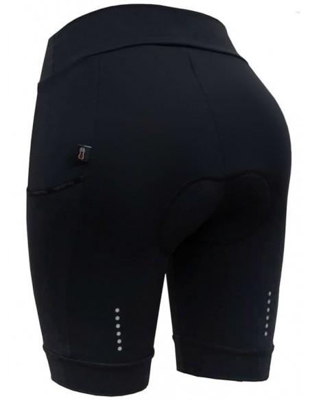 Bermuda para ciclista feminina Light Bag Preta - Márcio May
