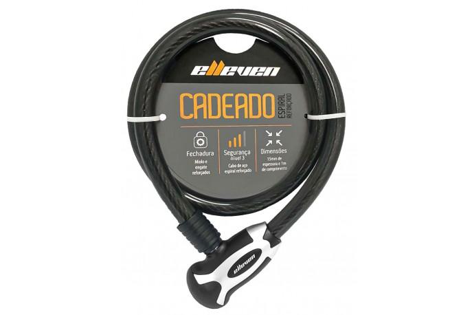 Cadeado bike com Chave 15x1000 Espiral - Elleven