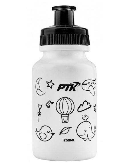 Capacete Ciclista Infantil Baby com regulagem + Squeeze 250ml modelo Sky Grafite - PTK