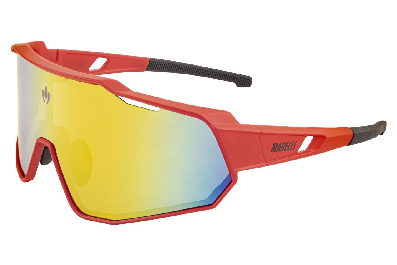 Óculos de ciclismo Veloce 3 lentes vermelho - Marelli