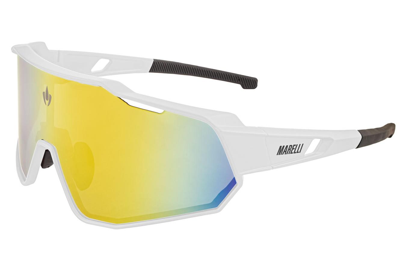 Óculos de ciclismo Veloce 3 lentes branco - Marelli