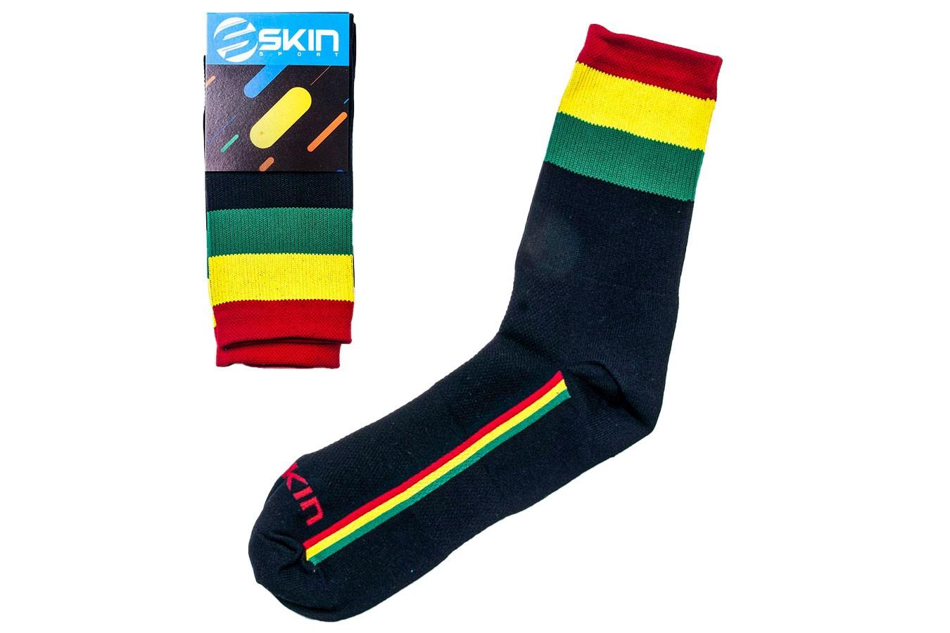 Meias para ciclistas SS Rasta - Skin Sport
