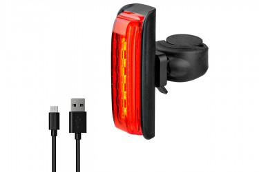 Vista Light Traseiro USB 30 lúmens com sensor de freio - X-plore