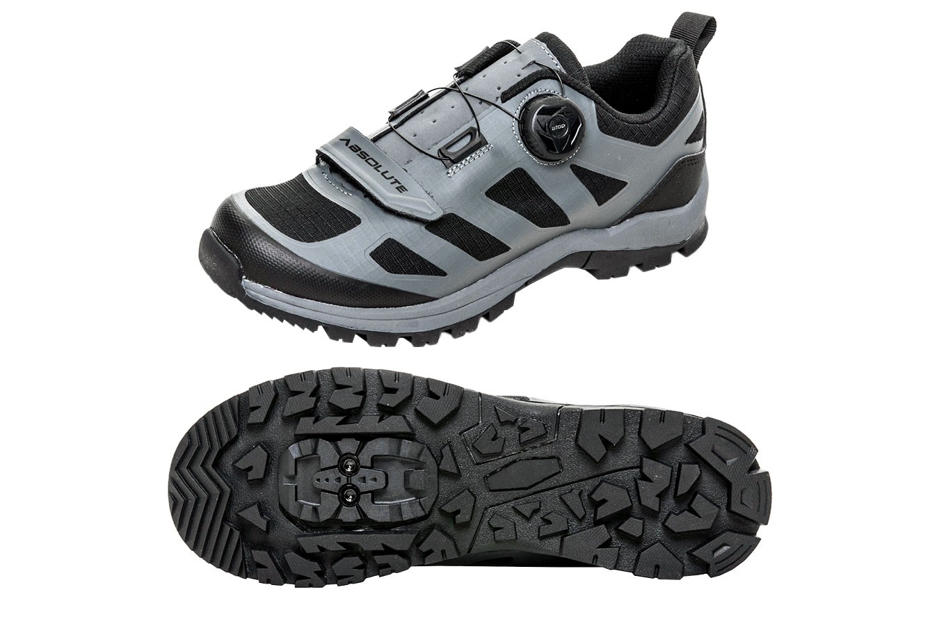 Sapatilha MTB Trail 1 roldana e 1 velcro (tipo tênis) - Absolute