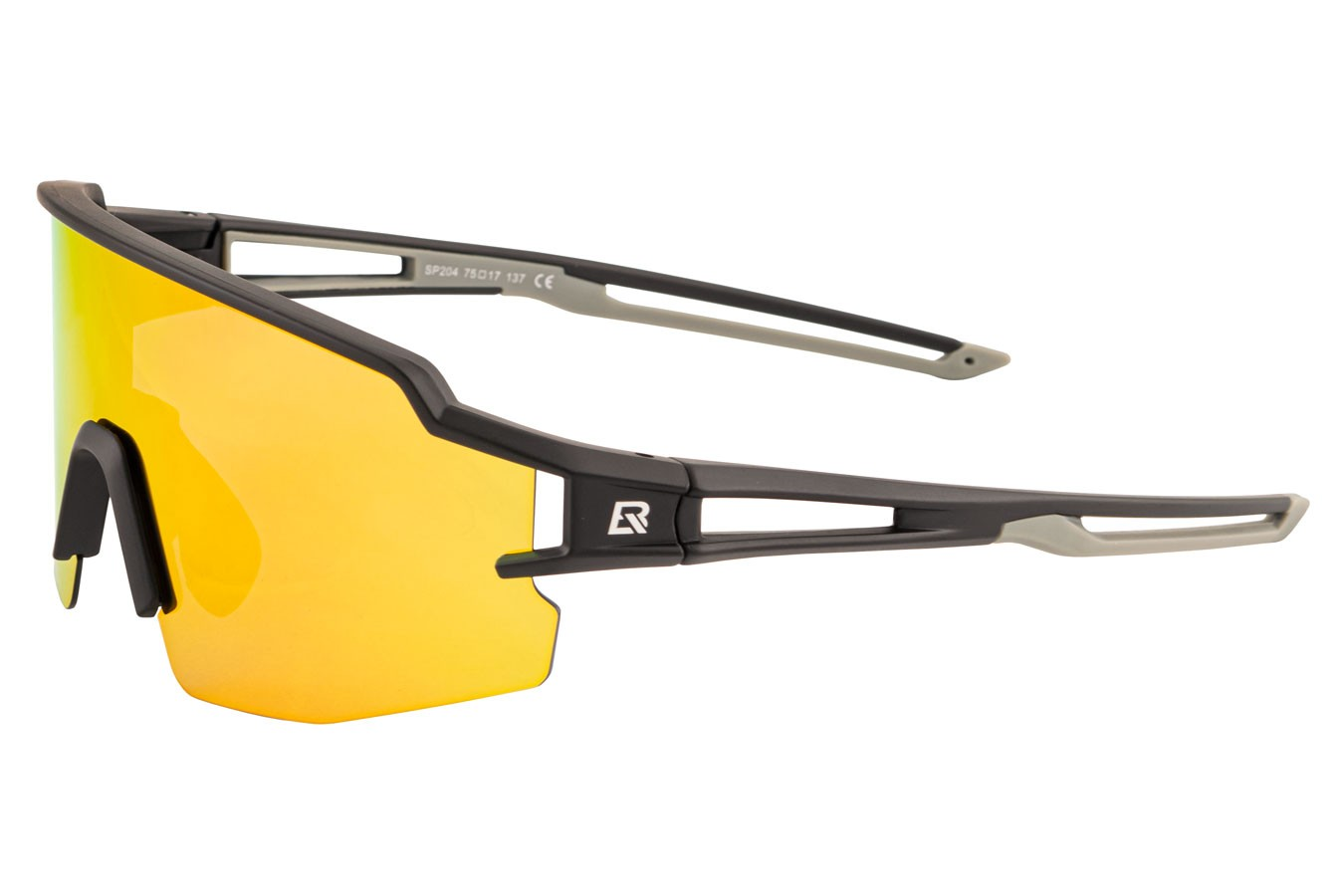Óculos para ciclistas com lente polarizada Preto/Cinza - Rockbros