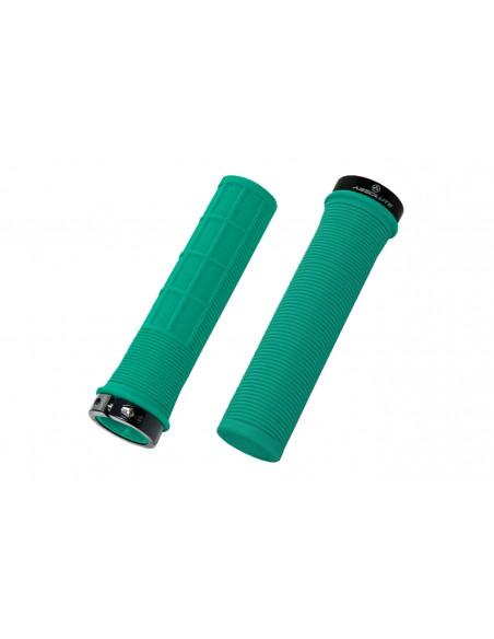 Manopla MTB 130 mm LG1 Borracha com Trava - Absolute