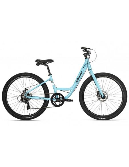 Bicicleta 27,5 Urbana Feminina Azul 7 velocidades Disco Mecânico Venice - Elleven
