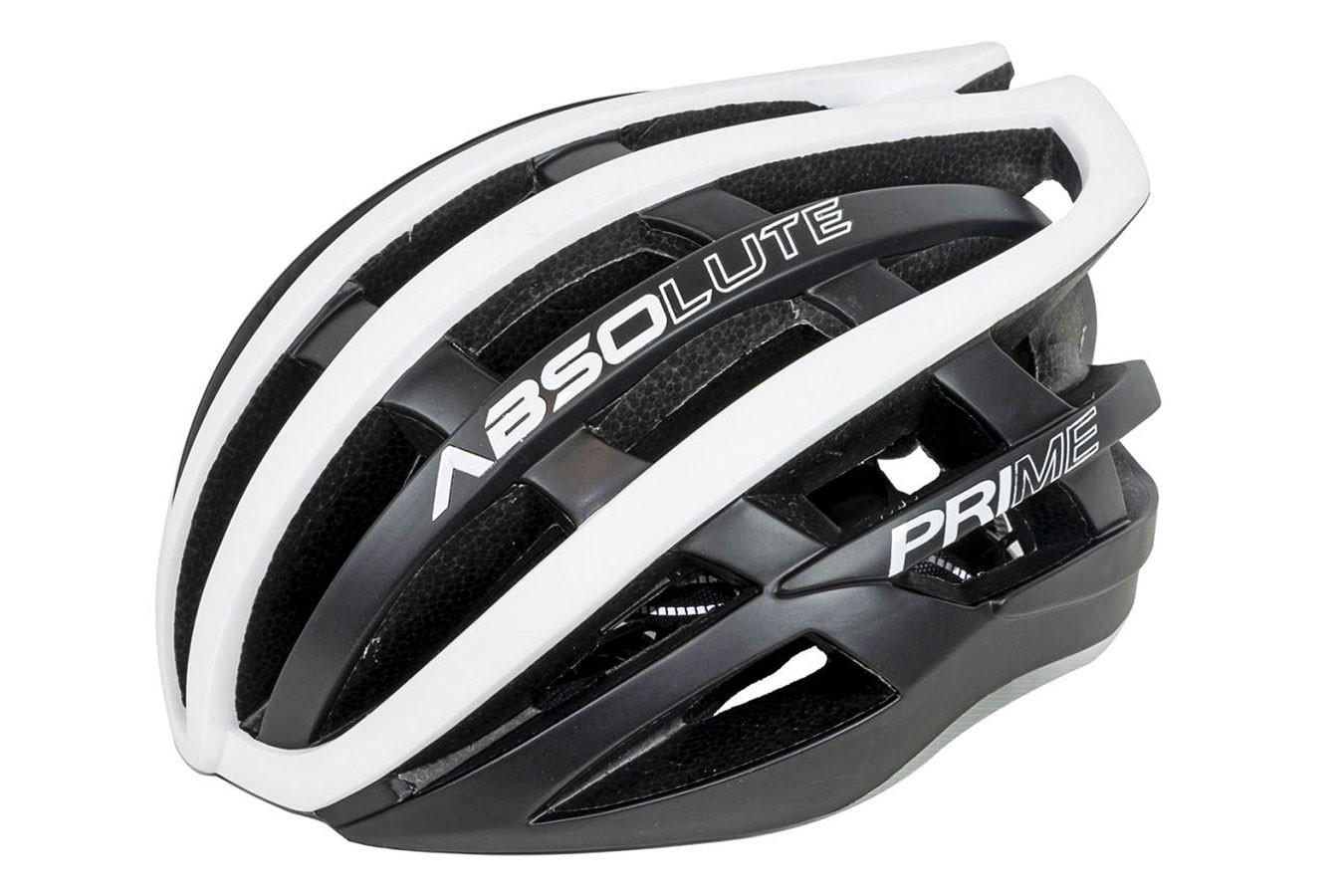 Capacete Ciclista Prime Preto com branco - Absolute