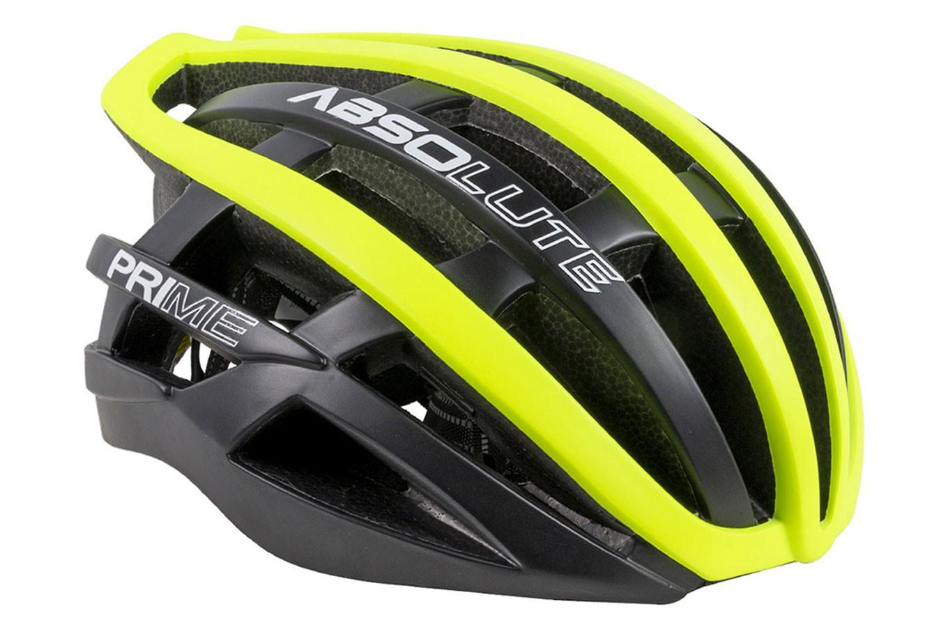 Capacete Ciclista Prime Preto com Amarelo - Absolute