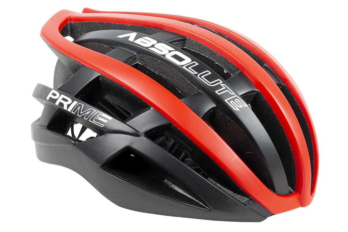 Capacete Ciclista Prime Preto com Vermelho - Absolute