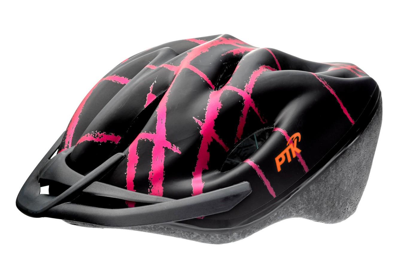 Capacete Ciclista Podium Preto com Rosa com Regulagem - PTK