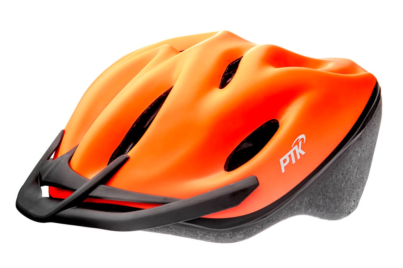 Capacete Ciclista Podium Laranja com Regulagem - PTK