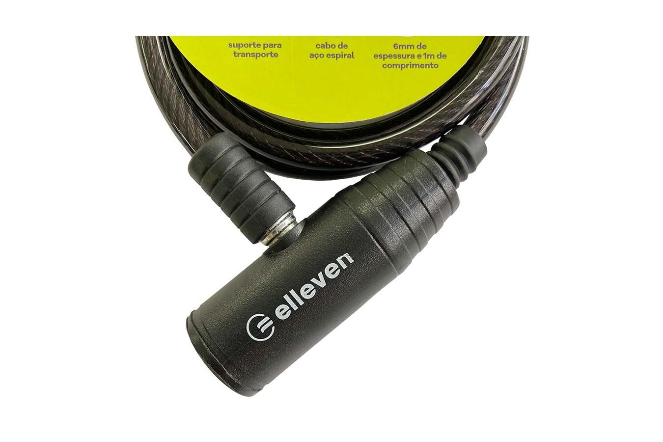 Cadeado para bike com Chave 6x1000mm revestido - Elleven