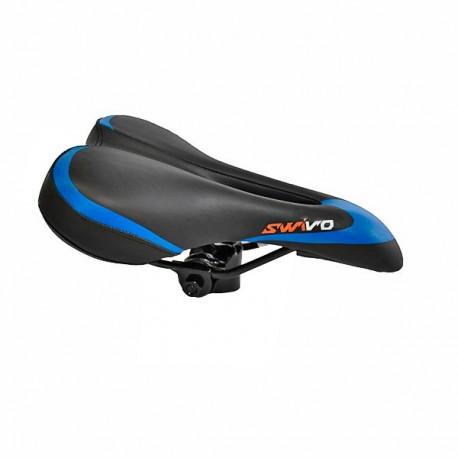 Selim MTB com cavidade preto/azul Swivo