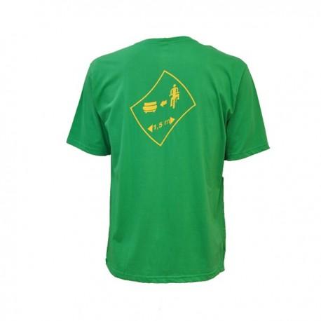 Camiseta 1/2 malha verde 3T
