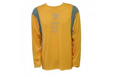 Camiseta Dry de manga longa amarela/cinza  3T