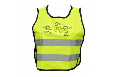 Colete refletivo amarelo para ciclista com estampa M-Wave