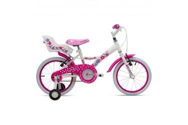 Bicicleta 16 Feminina My Bike Com Porta Boneca Branca - Tito