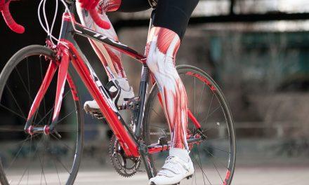 Músculos no ciclismo.